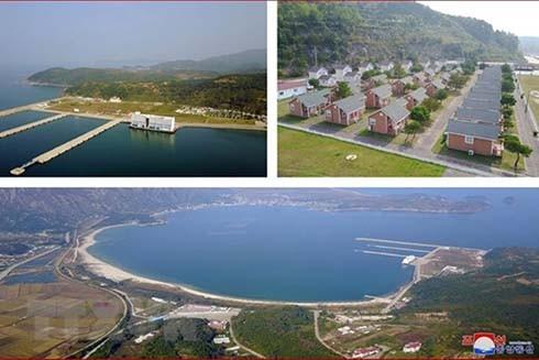 Khu du lịch núi Kumgang ở bờ biển phía Đông Triều Tiên (Ảnh: Yonhap/TTXVN)