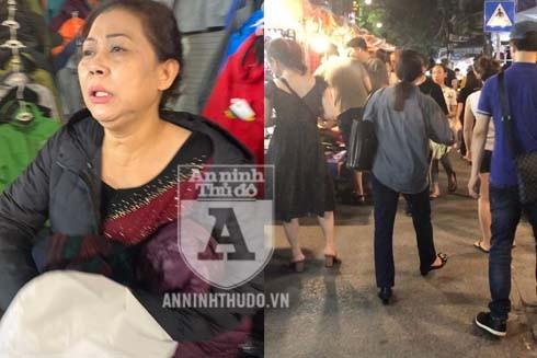 """Hai """"nữ quái"""" xuất hiện tại khu vực chợ đêm phố cổ Hà Nội"""
