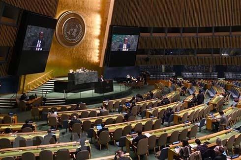 Một phiên họp của Đại hội đồng Liên hợp quốc ở New York, Mỹ. (Nguồn: AFP/TTXVN)