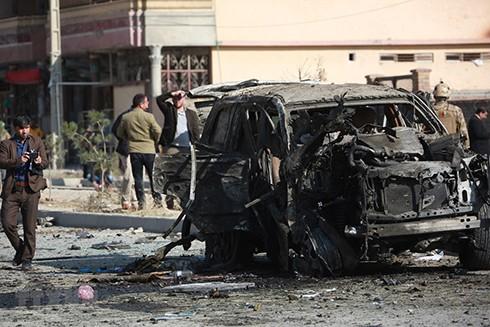 Hiện trường một vụ đánh bom do phiến quân Taliban tiến hành ở Kabul ngày 13-11-2019