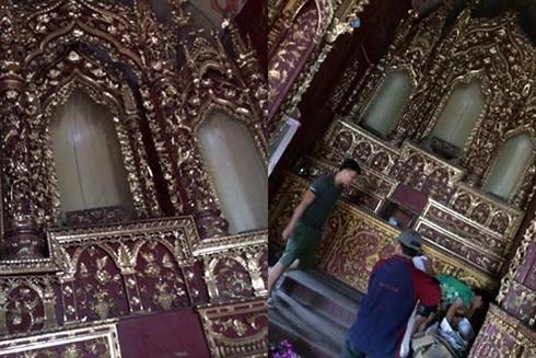 Nhà thờ cổ bất ngờ bị kẻ gian đột nhập lấy trộm kiệu vàng trị giá khoảng 120 triệu đồng