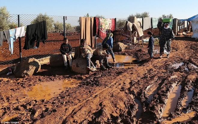 Cuộc sống ngập ngụa trong bùn của người tị nạn Syria ảnh 8