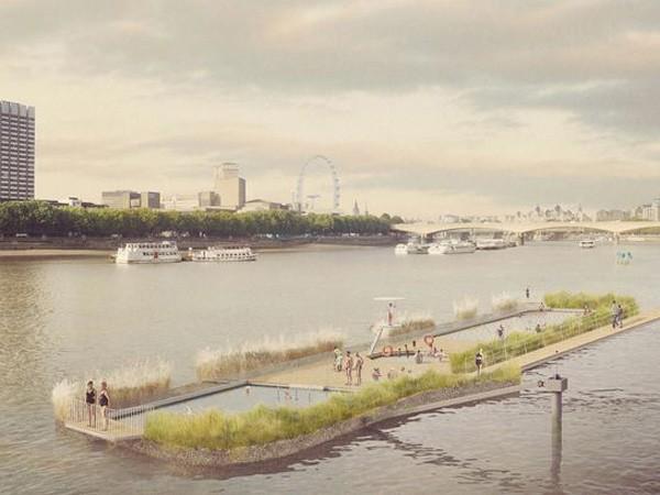 Dự án xây bể bơi 10 triệu bảng Anh giữa lòng sông Thames ảnh 1