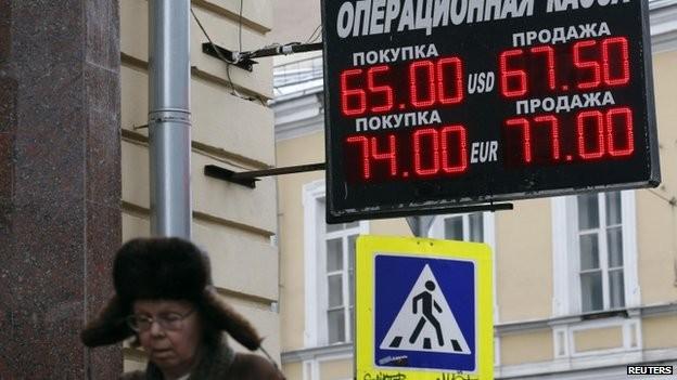 Đồng rúp của Nga đã rớt giá trong thời gian qua