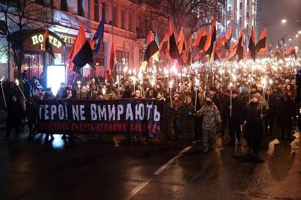 Người dân Ukraine tưởng nhớ anh hùng gây tranh cãi Stepan Bandera, tháng 1-2014