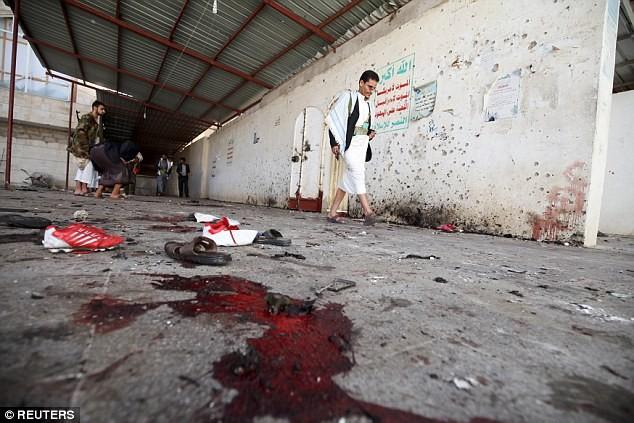 Những vết máu tại nhà thờ Al-Hashoosh