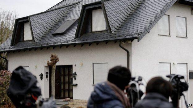 Ngôi nhà của cơ phó máy bay 4U 9525 ở thị trấn Montabaur