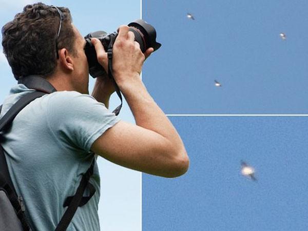 """Chộp được khoảnh khắc """"phi đội UFO"""" lượn lờ trên bầu trời Tây Ban Nha ảnh 1"""