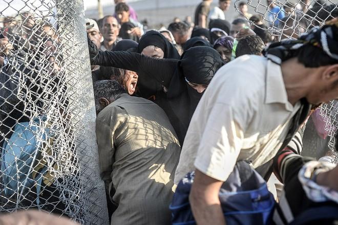 """Thảm cảnh người tị nạn Syria """"xé rào"""" vượt biên, chạy trốn cuộc chiến IS ảnh 10"""