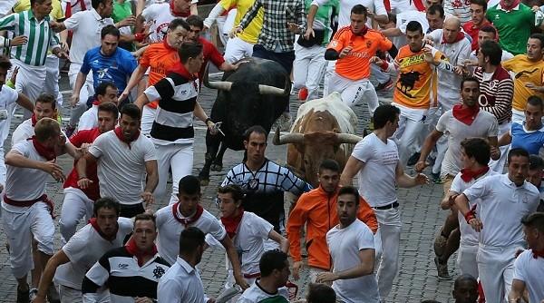 Những khoảnh khắc thót tim trong lễ hội bò tót ở Tây Ban Nha ảnh 8