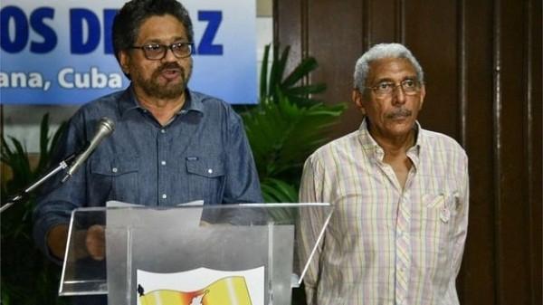 Đại diện của FARC trong một cuộc đàm phán với chính phủ Colombia tại Cuba