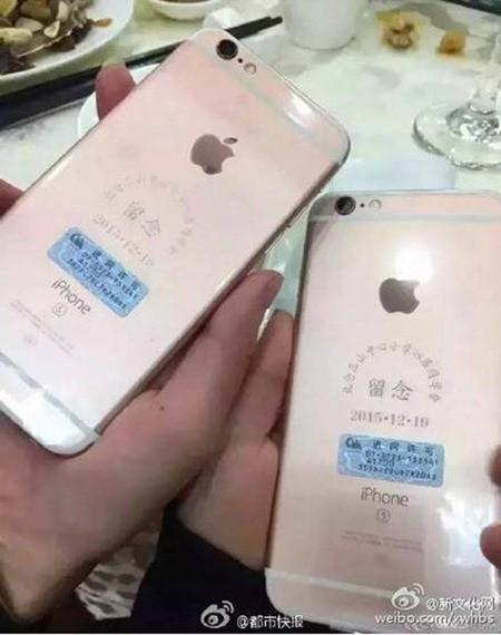 Doanh nhân hào phóng tặng bạn học 39 chiếc Iphone 6s vàng hồng
