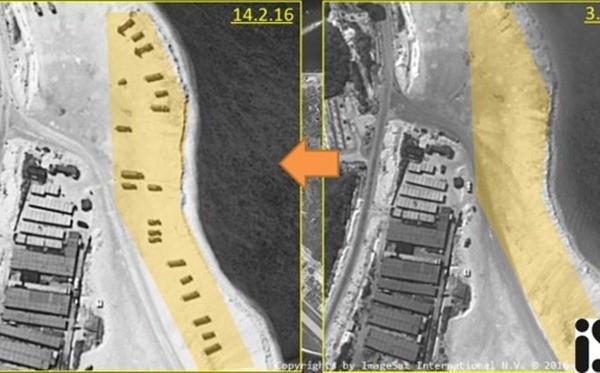 Hình ảnh từ vệ tinh thương mại tố cáo hành động ngang ngược của Trung Quốc khi triển khai hệ thống phòng không tới đảo Phú Lâm, thuộc quần đảo Hoàng Sa của Việt Nam