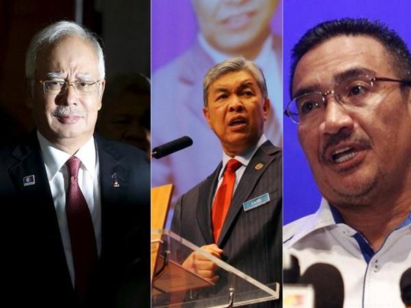 Thủ tướng Malaysia (bên trái), Bộ trưởng Nội vụ (giữa) và Bộ trưởng Quốc phòng