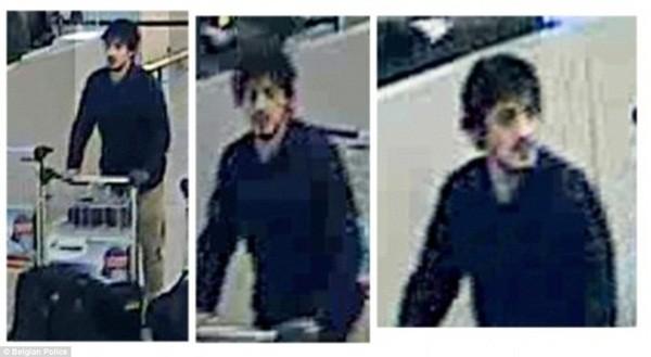 Người đàn ông này được cho là Khalid El Bakraoui, được nhìn thấy ở sân bay và đeo một chiếc găng tay màu đen chứa ngòi nổ bên tay trái