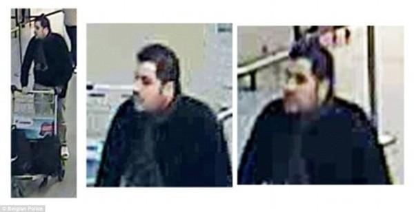 Kẻ được cho là Ibrahim El Bakraoui, xuất hiện bình thản tại sân bay