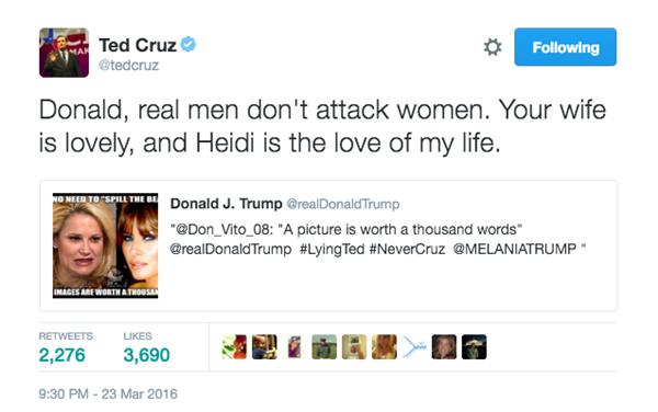 Ông Cruz cũng không chịu thua trước các cáo buộc của ông Trump