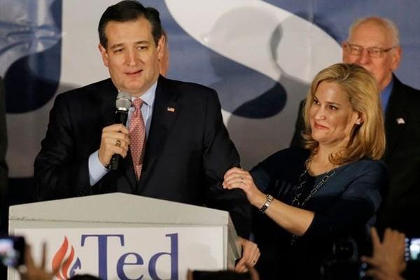 Ông Cruz và bà Heidi trong chiến dịch tranh cử