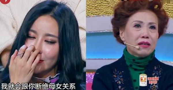 Mẹ của Yu Ning đã bật khóc trong chương trình và tỏ ra rất phiền lòng với con gái