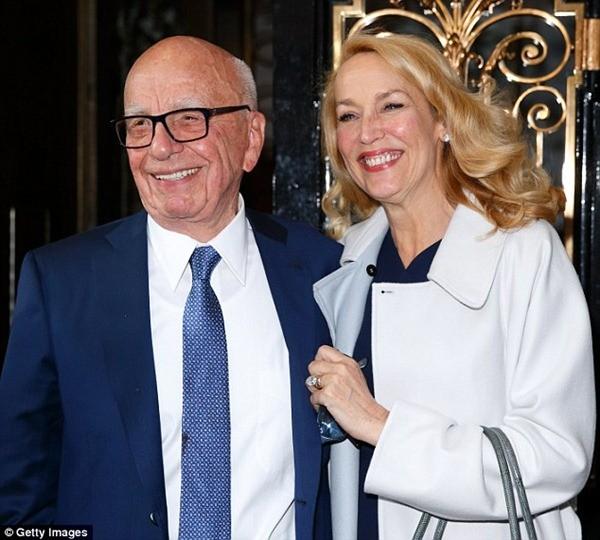 Tỷ phú Mỹ kết hôn lần thứ 4 vào tuổi 85 với cựu diễn viên và siêu mẫu Jerry Hall
