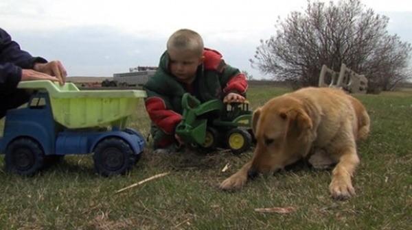 Cooper và cậu chủ 3 tuổi của nó