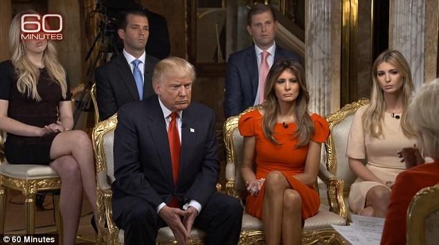 Gia đình ông Trump có mặt trong cuộc phỏng vấn của đài CBS hôm 13-11
