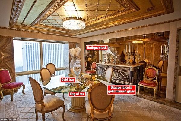Căn hộ gồm 3 tầng, được thiết kế theo phong cách cung điện vua Louis XIV (Pháp)