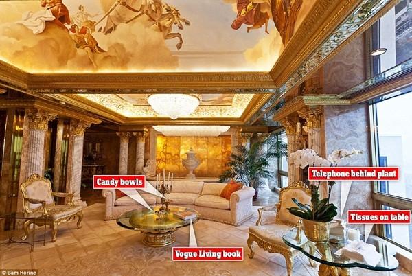 Bên trong căn hộ tầng 66 trên tháp Trump giá 100 triệu USD của ông Donald Trump