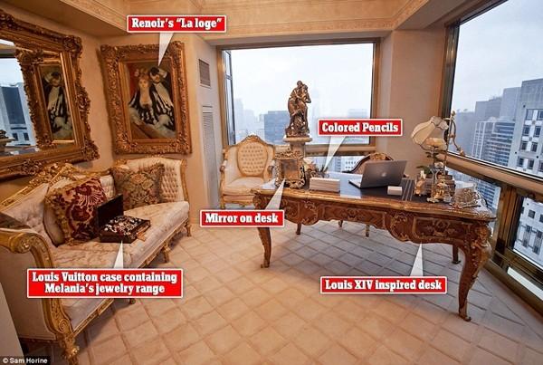 Các đồ nội thất trong căn hộ cũng lấy cảm hứng từ phong cách cung điện vua Pháp