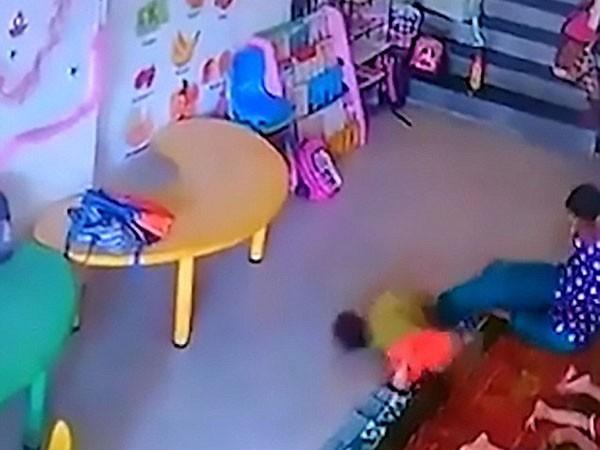 Phẫn nộ xem video cô giáo đánh trẻ tới mức nứt hộp sọ ảnh 1