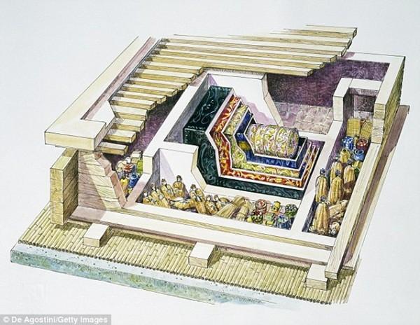 Sơ đồ ngôi mộ của Phu nhân Đại