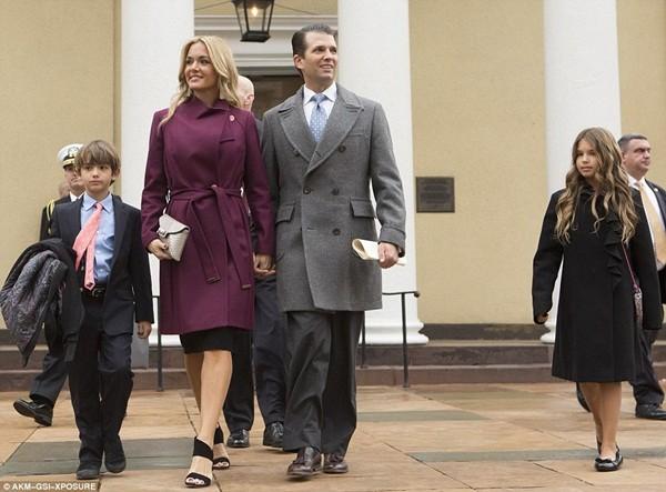 Những khoảnh khắc ấn tượng của đại gia đình Tổng thống Donald Trump trong ngày nhậm chức ảnh 5