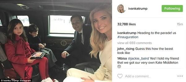 Những khoảnh khắc ấn tượng của đại gia đình Tổng thống Donald Trump trong ngày nhậm chức ảnh 2