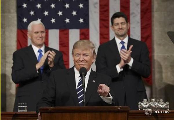 Ông Trump phát biểu tại cuộc họp Quốc hội Mỹ hôm 28-2