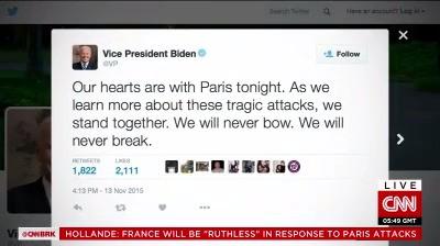 Phản ứng của các nhà lãnh đạo thế giới trước các vụ tấn công khủng bố tại Paris ảnh 2