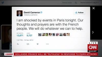 Phản ứng của các nhà lãnh đạo thế giới trước các vụ tấn công khủng bố tại Paris ảnh 1