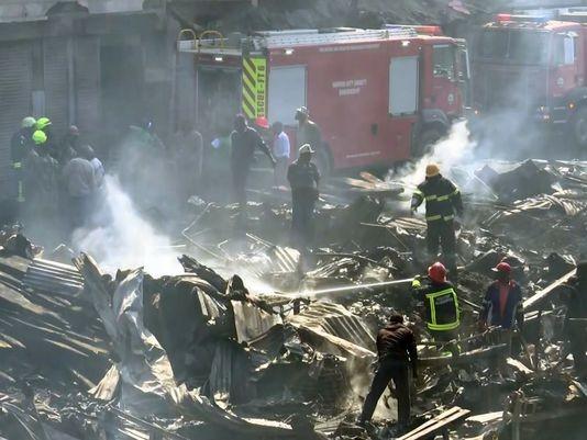 Cháy lớn ở khu chợ ngoài trời tại Kenya khiến 15 người tử vong