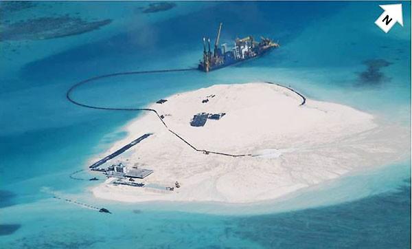 Trung Quốc cải tạo trái phép ở Đá Gạc Ma, thuộc quần đảo Trường Sa của Việt Nam