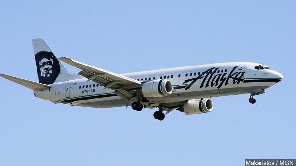 Một máy bay của hãng Alaska Airlines