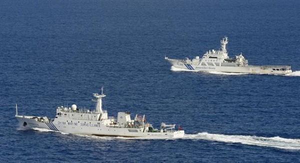 Một tàu của Trung Quốc xuất hiện gần tàu Nhật Bản ở quanh quần đảo Senkaku/Điếu Ngư