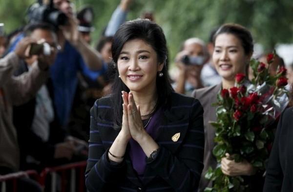 Bà Yingluck Shinawatra trong một lần xuất hiện trước công chúng