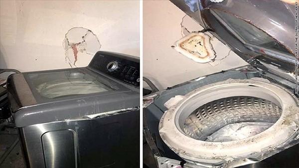Một chiếc máy giặt Samsung phát nổ ở Mỹ