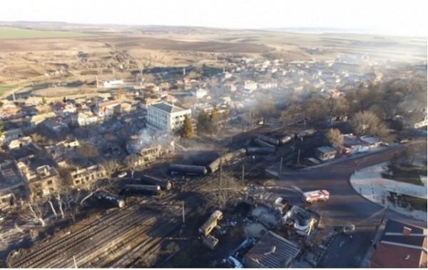Hiện trường vụ tai nạn đường sắt nghiêm trọng