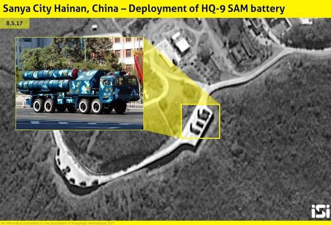 Tên lửa HQ-9 được nhìn thấy ở đảo Hải Nam