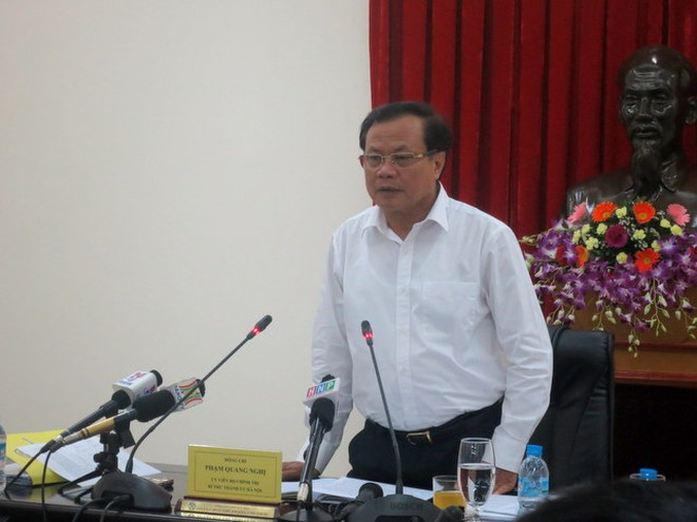 Bí thư Thành ủy Hà Nội Phạm Quang Nghị phát biểu tại buổi làm việc với Sở VH-TT&DL Hà Nội