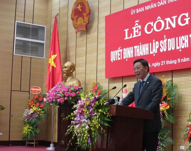 Chủ tịch UBND TP Hà Nội Nguyễn Thế Thảo đưa ra những nhiệm vụ trước mắt với Sở Du lịch Hà Nội