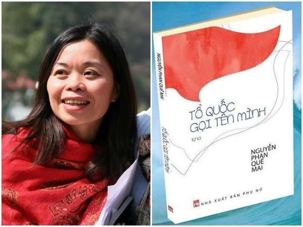 """Tập thơ """"Tổ quốc gọi tên mình"""" được nhà thơ Nguyễn Phan Quế Mai cho ra mắt vào tháng 7-2015."""