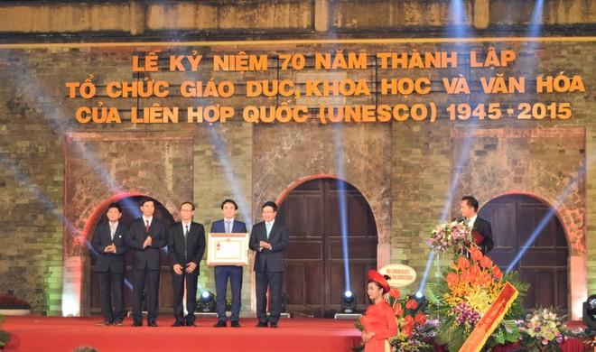 Trung tâm Bảo tồn di sản Thăng Long vinh dự nhận Huân chương Lao động hạng Ba (Ảnh: Ngọc Duy)