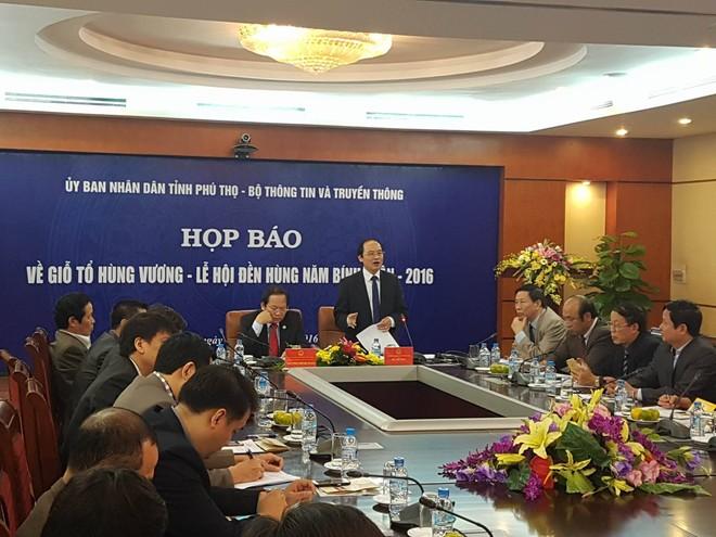 Ông Hà Kế San, Trưởng BTC Lễ giỗ Tổ Hùng Vương – Lễ hội Đền Hùng năm 2016 cam kết sẽ không có chặt chém, tắc đường và ăn xin trong lễ hội