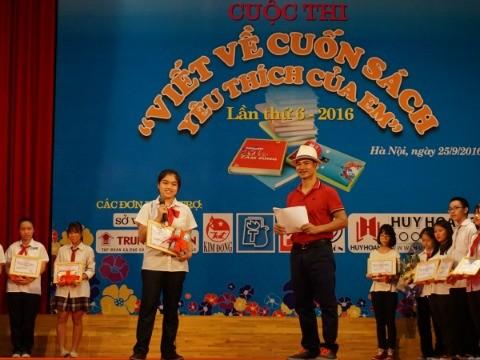 Em Chu Thị Minh Giang, học sinh lớp 7 đạt giải Nhất
